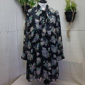 Banjaran floral boho tie neck princess dress